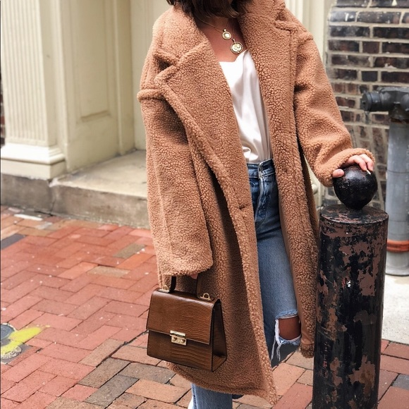 Jackets & Blazers - 🆕Lorna Nude Tan Long Teddy Coat